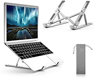 Laptop Stand, Boyata Adjustable Portable Laptop Holder for Desk, Aluminum Foldable Laptop Riser with 6 Levels of Height Ad...