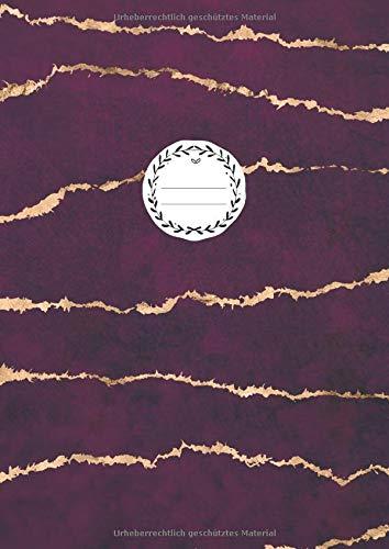 NOTIZBUCH A4 BLANKO: 110 Seiten Leer | Journal zum Gestalten, Zeichenbuch, Skizzenbuch, Notizheft, Blankobuch, Malbuch | Weißes Papier | Soft Cover Gebunden | Edel Purpur