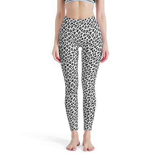 Lind88 Leopard Dunne Leggings Vrouwen, Luipaard Graan Patroon Digitale Leggings Aangepaste Workout Broek -Cool Stretchy Tight Broek voor Vrouwen