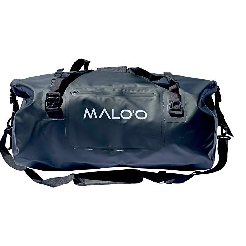 Malo'o Waterproof 60L Duffle Dry Bag - Durable, Versatile and Perfect for Fishing, Kayaking, Surfing and More! (Black)