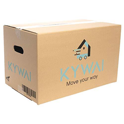 KYWAI. Pack 10 Cajas Carton Mudanza y Almacenaje 500x300x300. Grandes con asas. Caja carton reforzado. Fabricadas España.
