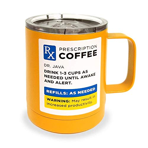 Insulated Stainless Steel Double Wall Mug with Lid - RX Style 14 Fluid Oz