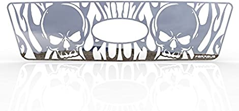 Ferreus Industries Grille Insert Guard Skull Flame Polished Stainless fits: 2004-2008 Ford F-150 TRK-119-10-Chrome-a
