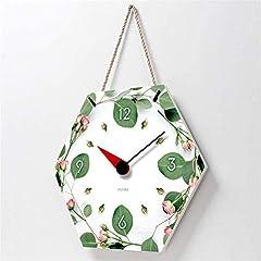 TIANYOU Wall Clock Polygon Bracket Clock Lanyard Clock Acrylic Silent Wall Clock Living Room Bedrooms Kitchen Bracket Clock 14 Inches Small Wall Clock #2