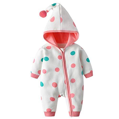 Bebone Ropa para bebé Niños Niñas Ropa de una pieza Otoño Invierno Body Ropa de cama Pijamas (Rosa, 6-9 meses)