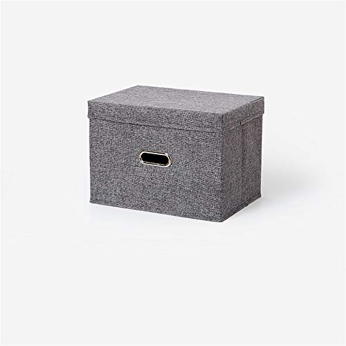 SN-KK SZQ-Aufbewahrungsboxen Doppelgriff Aufbewahrungsbox, Stoffwürfel fácil de limpiar Aufbewahrungsbox Stapelbehälter Oficina cosméticos Aufbewahrungsbox Stauraum ahorra espacio, Tela, gris, 38*28*27CM