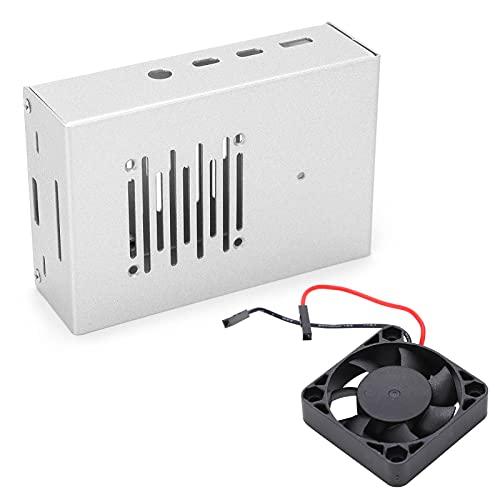 Ventilador de refrigeración de CPU, Carcasa de Carcasa Ventilador de refrigeración Carcasa de Ventilador de refrigeración para Raspberry Pi Aleación de Aluminio Fácil Uso para mecánicos