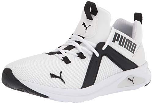 PUMA Men's Enzo 2 Sneaker, Black White, 10 M US