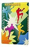 Blechschild Sport Kickboxen Silhouette Deko Wand Schild