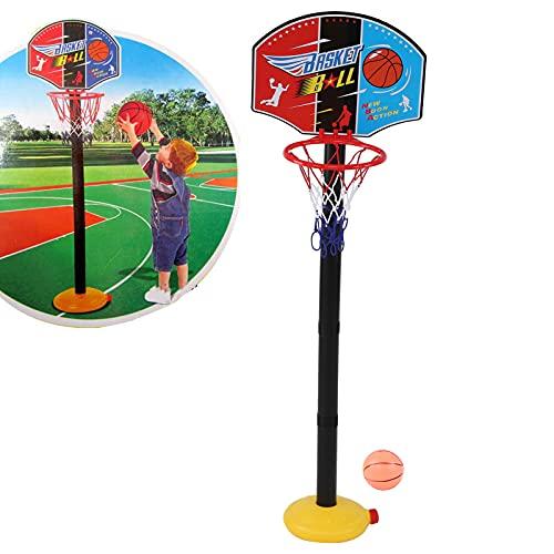 Ranvo Juguete de Soporte de aro de Baloncesto, Juguete de Baloncesto Deportivo de Altura Ajustable fácil de Instalar para reuniones Familiares para Fiestas Infantiles