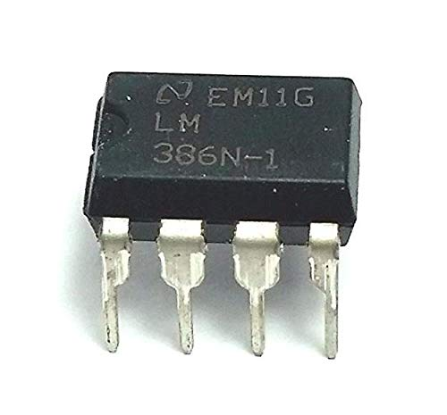 Hemore LM386N Audio-Verstärker mit Durchgangsbohrung, 8 Pins, Dip-IC, 5 Stück