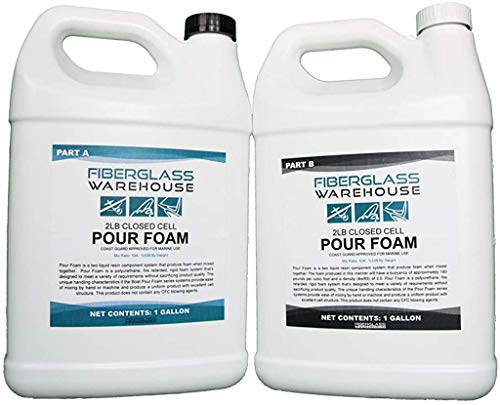 Pour Foam 2 lb Closed Cell Expanding Polyurethane Coast Guard Approved (2 Gallon)