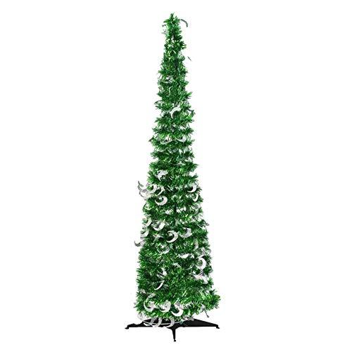 Schildeng Albero Di Natale 150 Cm - Albero Di Natale Pieghevole Pieghevole Albero Di Natale Artificiale Ornamenti Per Decorazioni Natalizie Per Feste