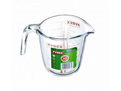 Pyrex Verre doseur Capacité 2 unités de mesure au choix, Verre, 0,5 l