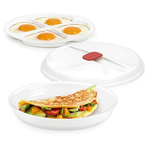Tescoma 705030 Purity Microwave Cuoci Uova al Tegamino, Plastica, Bianco, Diametro 21.5 cm, Altezza 4 cm