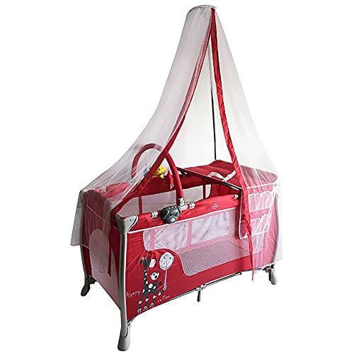 LYXCM De cabecera para bebé, moisés portátiles Plegables fáciles Ajustables para recién Nacidos | Cuna de Viaje con Cambiador de pañales de colchón Suave y mosquitera