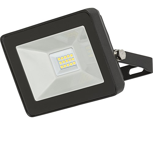 Knightsbridge 230 V IP65 10 W LED Noir en Aluminium moulé sous pression Floodlight 4000 K