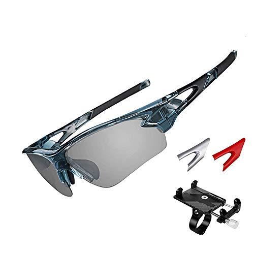 ZHLZH Radsportbrille/Radsportbrille für Herren, polarisierte Sport-Sonnenbrille Driving Sun Glasses Shades für Herren Damen Cycling Baseball Running,Blue