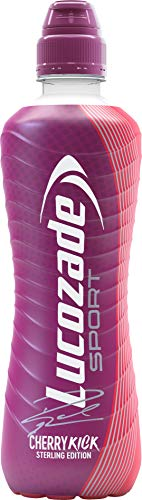 Lucozade Sport Cherry Kick - 12 Bottles x 500ml - Isotonic Sports Drink - Made with Sugars & Sweeteners - Provides Electrolytes & Carbohydrates - Enhances Hydration & Fuels Performance