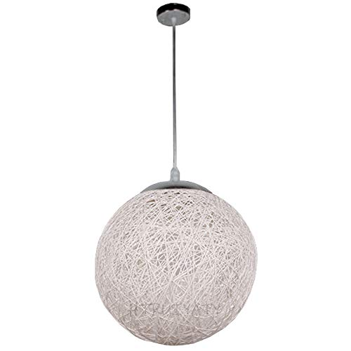 Lampara Techo Ratan Sepak Takraw LáMpara Colgante Candelabros Creativos De Interior Ajustables Decoran El Pasillo New House Cafe-30CM/Blanco