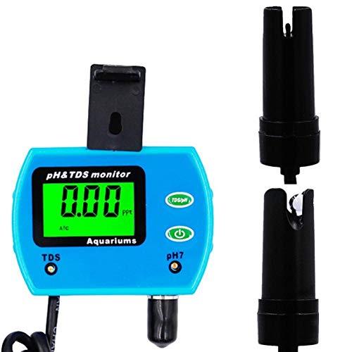 SZLX Analizador de Calidad de Agua multiparamétrico portátil 2 en 1 probador de pH multiparámetro Monitor Agua medidor de PH TDS