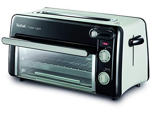 Tefal Toast n' Grill TL6008 | 2 in 1 Toaster und Mini-Ofen | Sehr energieeffizient und schnell | 1300 Watt | Schwarz/ Alu matt