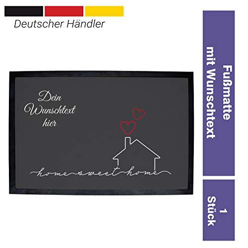Personalisierte Fußmatte Groß mit Name zum selbst Gestalten, 60 x 40 cm Schmutzfang mit Design, Rutschfester Teppich für Haustüre oder Innenbereich (Motiv 5)