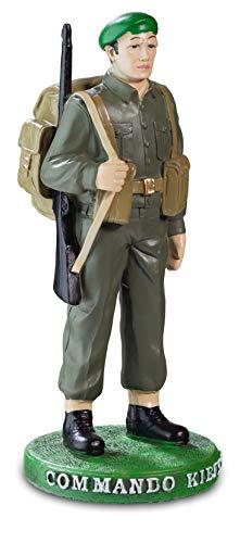 Reproduction Statue Soldat Commando kieffer Couleurs 15/6/6 cm