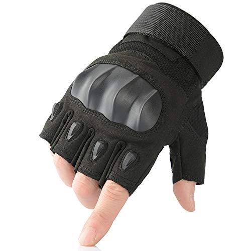 Berrd Touchscreen PU Leder Motorrad Knöchel Handschuhe Racing Biker Motorrad Motocross - Half Finger Schwarz X XL X Russische Föderation