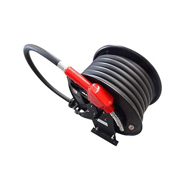 Enrollador carrete automático con manguera de ¾ (19 mm) para suministro de Gasoil combustible con pistola boquerel…