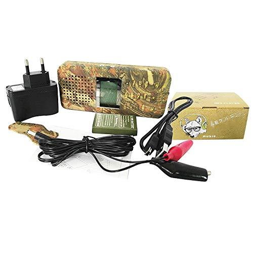 Tamkyo Se?Uelos de Caza Al Aire Libre Depredador Llamador de Sonido Reproductor de MP3 Incorporado 150 Voces de PáJaros Llamador de PáJaros Al Aire Libre Color de Camuflaje