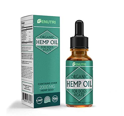 METACYL Natural Hemp Oil for Dogs and Cats - Dogs and Cats Anxiety Oil Treatment - 2000 mg of Organic Pet Hemp Oil for Skin and Fur - Omega 3, 6 & 9