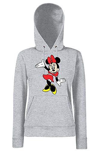 Youth Designz - Felpa con cappuccio da donna, modello Minnie Danza, disponibile in diversi colori, taglie XS-XXL grigio. M