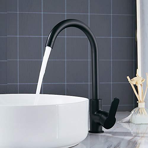DOVPW Wasserhahn Bad Waschtischarmaturen Schwarz Waschtisch-Mischbatterien Küche Bad Armaturen Einhebel Wasserhahn Schwarz Waschtischmischer