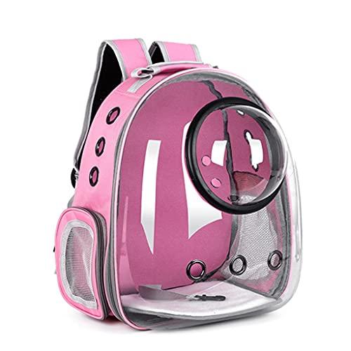 PHILSP Mochila cápsula Mochila portátil Transparente para Gatos Mochila Mochila Espacial Mochila para Mascotas con Burbujas Rosa