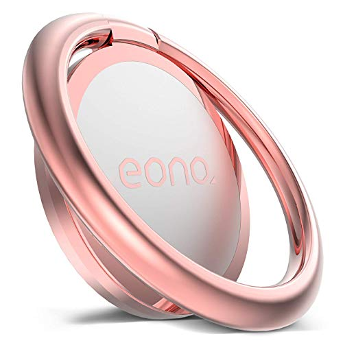 Eono by Amazon Phone Ring Holder, Handy Finger Ring Stand : Universal Grip 360 Adjustable Loop for iPhone 12 11 Pro XS Max XR X 8 7 6 6s Plus Android other 4~8' Smart Phone - Rose Gold
