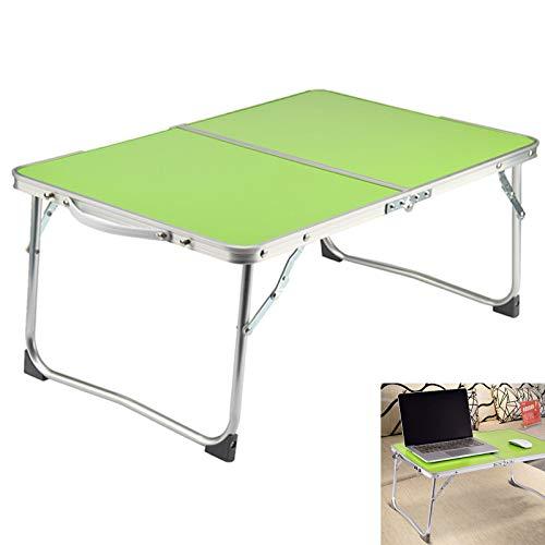 Mesas de comedor al aire libre JAOSY 60 cm verde ligero mesa plegable con asa de transporte aluminio para camping jardín barbacoa con asa de transporte
