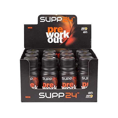 SUPP24 Pre Workout für Männer - Energy Shot für mehr Ausdauer und Stärke - Sportnahrung ohne Zucker und Fett - Cola Geschmack 60ml Flasche auch für Spitzensportler Trainingsbooster (24)