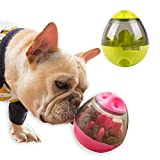 Hifrenchies Dog IQ Treat and Mental Stimulation Ball,Pet Interactive Food Egg,Interactive Puzzle Treat Ball for Frenchie, Dog and Cat Slowing Feeding Ball (Red)