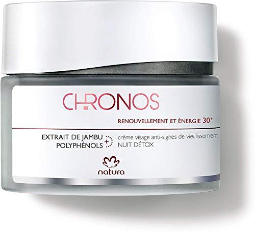 Crème visage anti-signes Nuit détox - Renouvellement et énergie 30+ - Natura Chronos - 40 ml