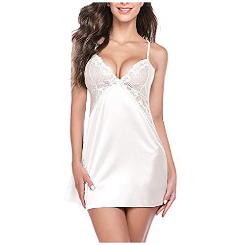 Allegorly Damen Dessous Sexy Drahtloser Randloser Pyjama Spitze Nachthemd Silk Unterwäsche Verführerisches Nachtwäsche Reizvolles Erotische Reizwäsche