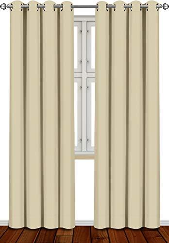 Utopia Bedding [2 Paneles Cortina Opaca - Cortinas Aislantes Térmicas - con Ojales - (140 x 260 cm,...