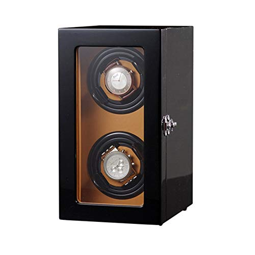 Oksmsa Madera Pintura for Piano Cajas Giratorias for Relojes Automatico, Motor Silencioso con 5 Modo, 2+0 Vertical Bobinadora for Relojes