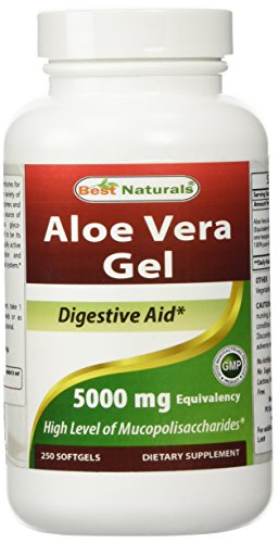 Best Naturals Aloe Vera Gel 5000 mg 250 Softgels