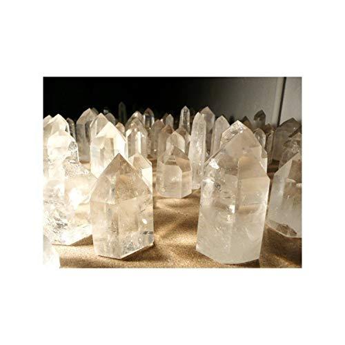 Puntas Pulidas de Cuarzo Calidad A (Pack de 250 gr) Minerales y Cristales, Belleza energética, Meditacion, Amuletos Espirituales