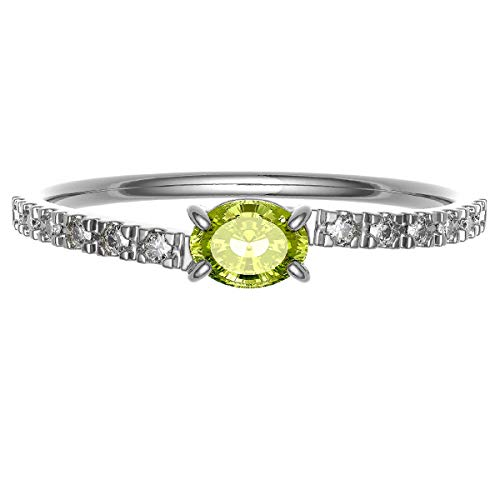 [ココカル]cococaru ダイヤモンド シトリン リング プラチナ Pt900 指輪 6号 ピンキーリング 重ね付け 天然石 誕生石 カラーストーン 天然 ダイヤ 日本製