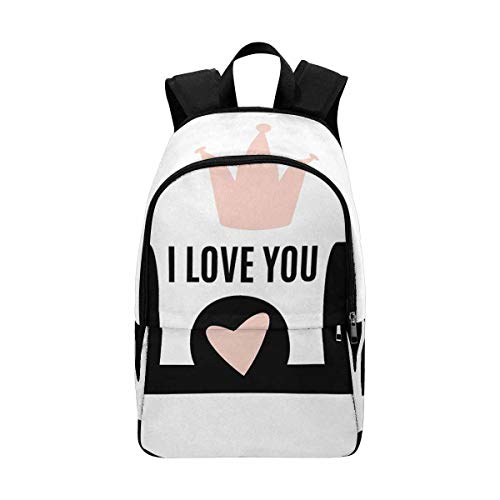 InterestPrint Happy Mothers Day Holiday I Love You, The Best Mom Laptop Computer Backpack