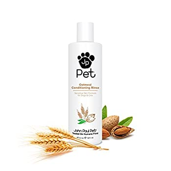 John Paul Pet Oatmeal Conditioning Rinse for Dogs and Cats Soothing Sensitive Skin Formula Moisturizes and Revitalizes Dry Skin and Fur 16-Ounce
