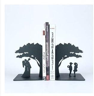 MIYU زوج واحد من رف مدفاتر معدني مبتكر الحب حامل الدفاتر لوازم المكتب حامل الكتب للديكور المنزلي (اللون: عمر منتصف الطفل)