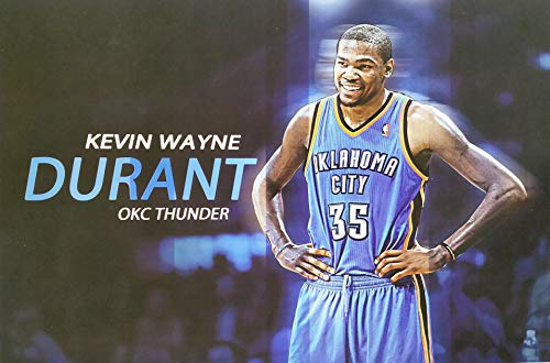 Poster Tunes, Kevin Wayne Durant Poster, Oklahoma City Thunder, Golden State Warriors,18 x 12, NBA Superstar, Scoring Champion, Rookie of The Year, Poster Packed in Tube